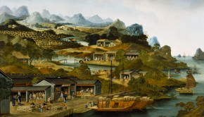 This painting, by an unidentified Chinese artist (1790-1800), shows the steps involved in the production of tea, from cultivation to packaging the tea for shipping. (Courtesy Peabody Essex Museum, Salem, Massachusetts)
