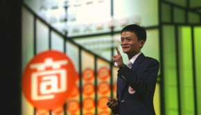 Alibaba founder Jack Ma speaks at a company event. (Photo courtesy of Alibaba)