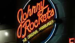 Neon Johnny Rockets sign