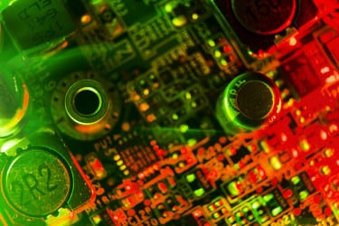 circuitry on a motherboard