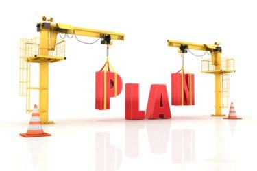 Cranes building the PLAN Word