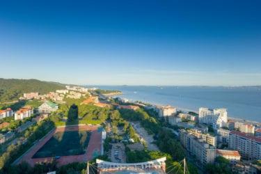 Birdview of xiamen university