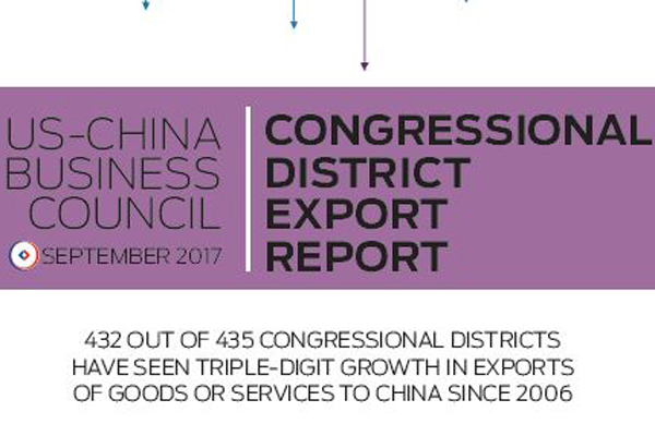 USCBC 2017 Congressional District Export Report - China