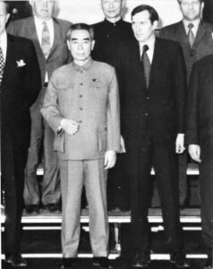 Zhou Enlai and Bob Siegenthaler